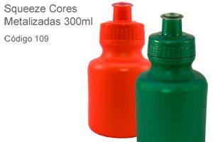 Squeeze Metalizadas 300ml - Plástico