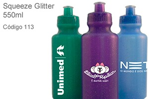 Squeeze Glitter 550ml - Plástico