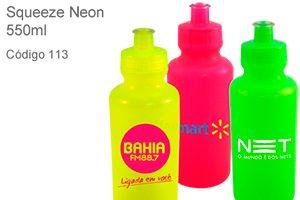 Squeeze Neon 550ml - Plástico